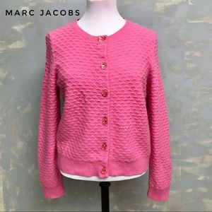 Marc Jacobs Cashmere Cardigan Crew Neck in Pink